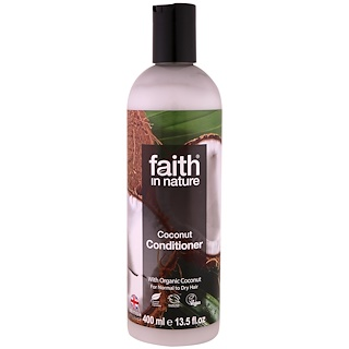 Faith in Nature, Conditioner, For Normal to Dry Hair, Coconut, 13.5 fl oz (400 ml)