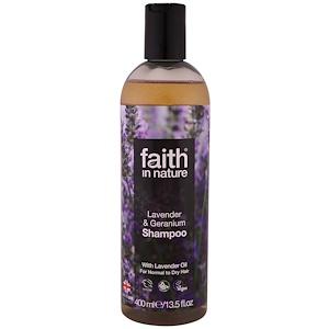 Faith in Nature, Shampoo, For Normal to Dry Hair, Lavender & Geranium, 13.5 fl oz (400 ml) отзывы
