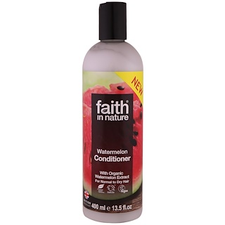 Faith in Nature, Conditioner, For Normal to Dry Hair, Watermelon, 13.5 fl oz (400 ml)