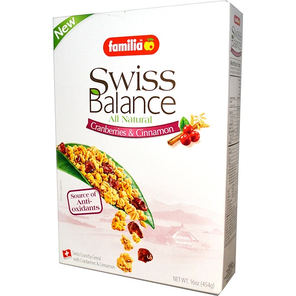 Familia, Swiss Balance Cereal, Cranberries & Cinnamon, 16 oz (454 g) (Discontinued Item)