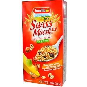 Фамилия, Swiss Muesli, Rolled Whole Grains with Fruit and Nuts, Original Recipe, 12 oz (340 g) отзывы покупателей