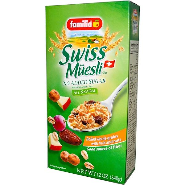 Familia, Швейцарские мюсли, без добавления сахара 12 унции (340 г)