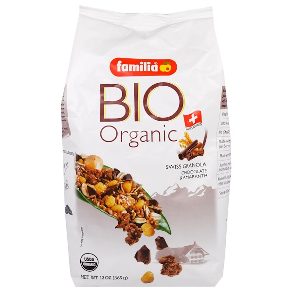 Familia, Bio Organic, Swiss Granola, Chocolate & Amaranth, 13 oz (369 g) (Discontinued Item)
