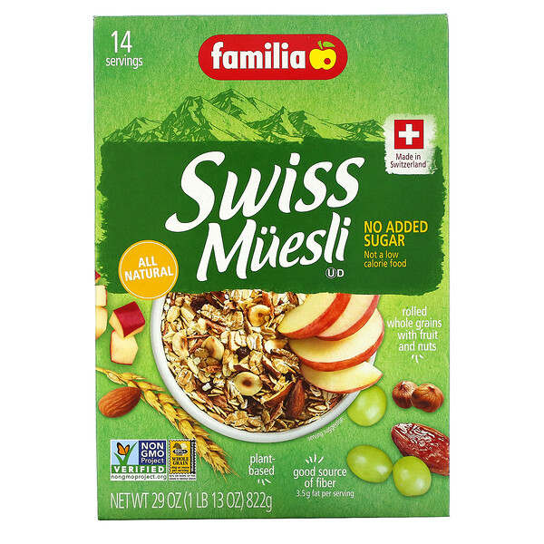 Swiss Muesli, No Added Sugar, 29 oz (822 g)