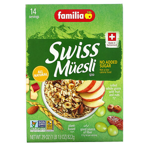 Фамилия, Swiss Muesli, No Added Sugar, 29 oz (822 g) отзывы покупателей