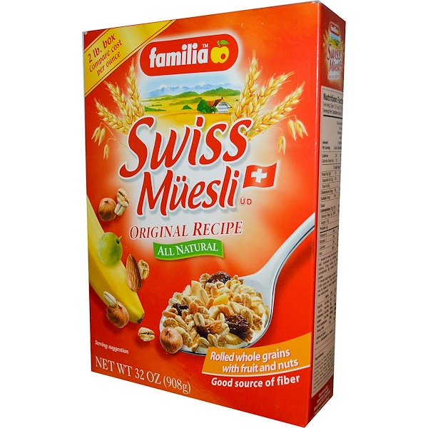 Familia, Muesli Suizo, Receta Original, 32 oz (908 g) (Discontinued Item)
