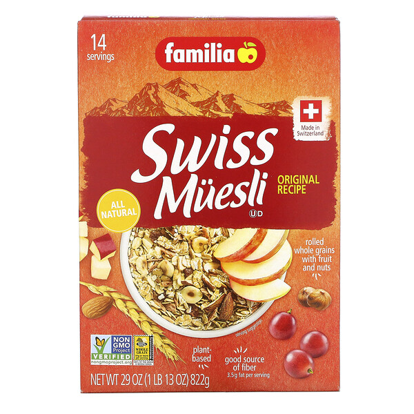 Familia, Swiss Muesli, Original Recipe, 29 oz (822 g)