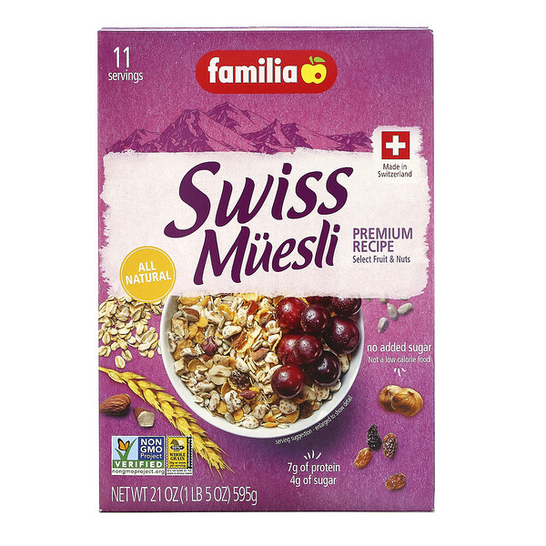 Swiss Muesli, Premium Recipe, 21 oz (595 g)