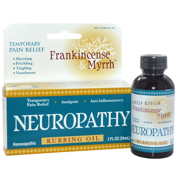 Frankincense & Myrrh, Neuropathy, Rubbing Oil, 2 fl oz (59 ml)