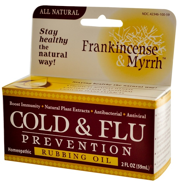 Frankincense & Myrrh, Cold & Flu Prevention, Rubbing Oil, 2 fl oz (59 ml)  (Discontinued Item)