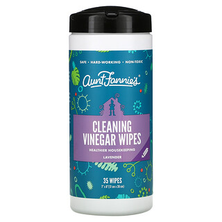 Aunt Fannie's, Cleaning Vinegar Wipes, Lavender,  35 Wipes