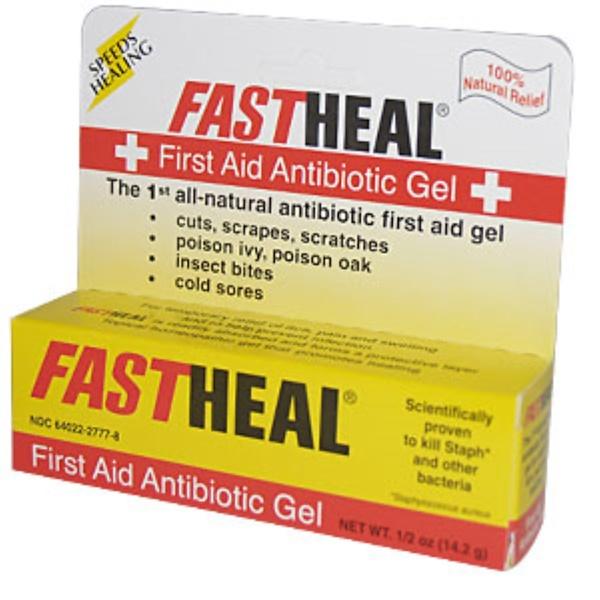 Fast Heal, First Aid Antibiotic Gel, 1/2 oz (14.2 g) (Discontinued Item)