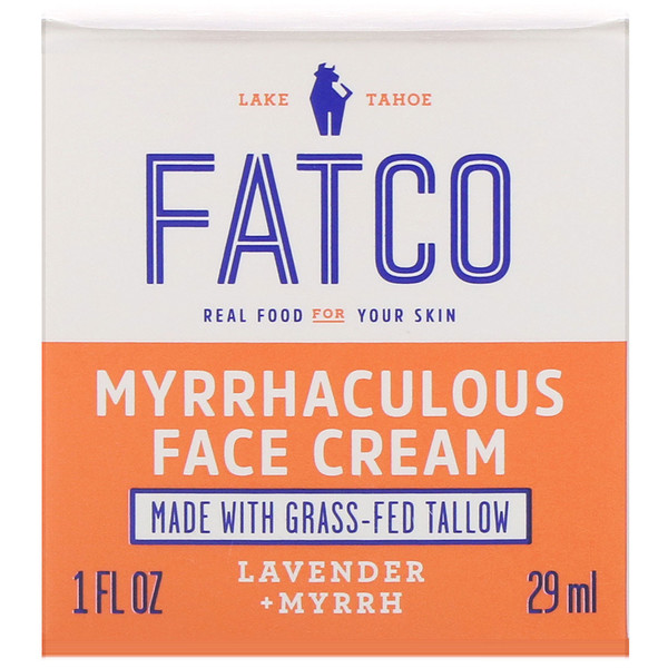 Fatco, Myrrhaculous Face Cream, Lavender + Myrrh, 1 fl oz (29 ml)