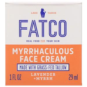 Fatco, Myrrhaculous Face Cream, Lavender + Myrrh, 1 fl oz (29 ml)