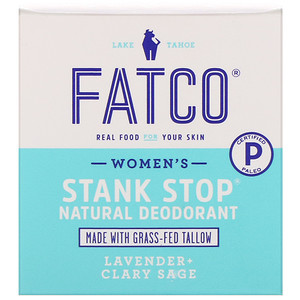 Fatco, Stank Stop Natural Deodorant, Women's, Lavender + Clary Sage, 1 fl oz (29 ml)