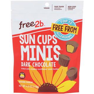 Free2B, Sun Cups Minis, Dark Chocolate, 4.2 oz (119 g)