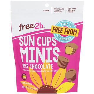 Free2B, Sun Cups Minis, Rice Chocolate, 4.2 oz (119 g)