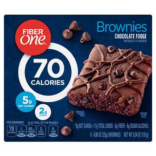 Fiber One, 巧克力蛋糕,巧克力軟糖,6 根,每根 0.89 盎司(25 克)