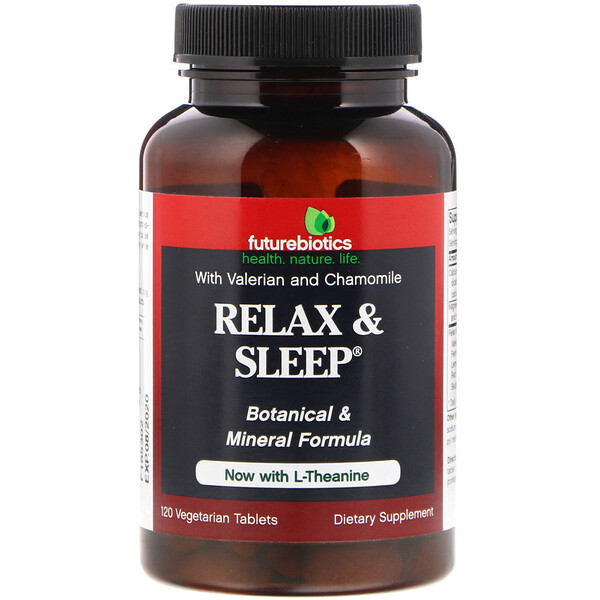 FutureBiotics, Relax & Sleep, 120 Vegetarian Tablets