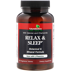 Фьючербайотикс, Relax & Sleep, 120 Vegetarian Tablets отзывы