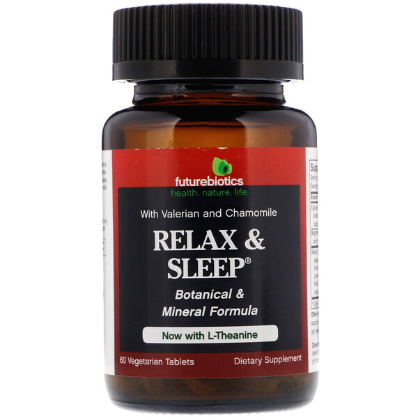 FutureBiotics, Relax & Sleep, 60 Vegetarian Tablets
