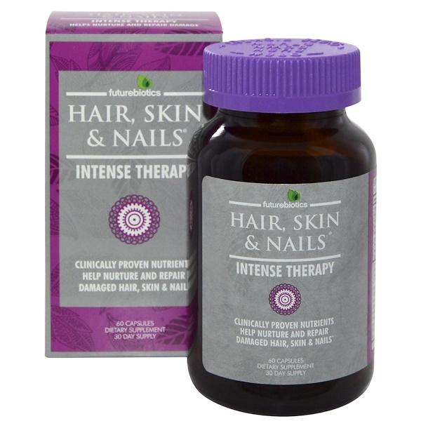 FutureBiotics, Hair, Skin & Nails, Intense Therapy, 60 Capsules (Discontinued Item)