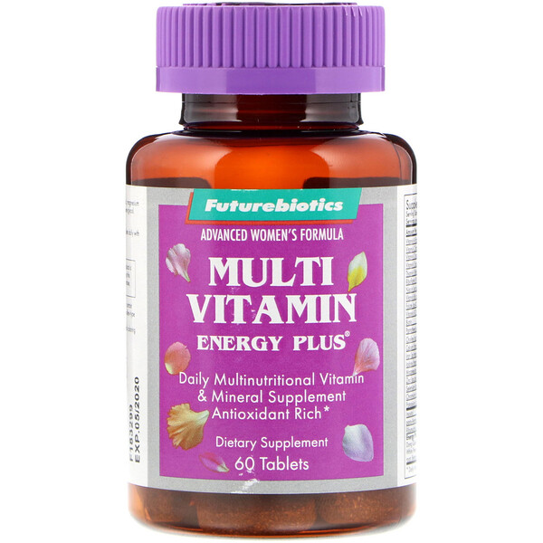FutureBiotics, Advanced Women's Formula, Multi Vitamin Energy Plus, 60 Tablets