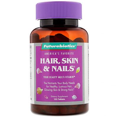 FutureBiotics Hair, Skin  Nails, средство для поддержания здоровья волос, кожи и ногтей, 135 таблеток