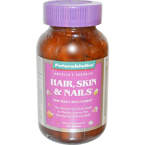 FutureBiotics, Hair, Skin & Nails, 135 Tablets