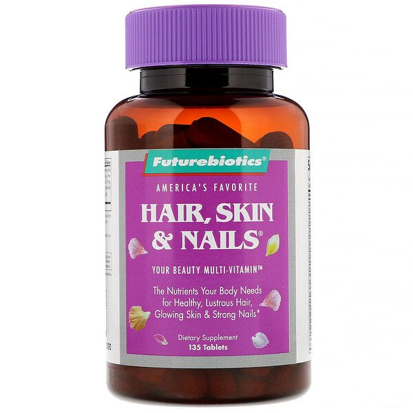 FutureBiotics, Hair, Skin & Nails, 135 Comprimidos