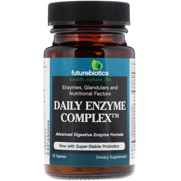 FutureBiotics, Daily Enzyme Complex, 75 Tablets