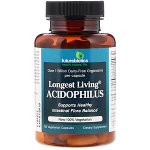 Фьючербайотикс, Longest Living Acidophilus, 100 Vegetarian Capsules отзывы