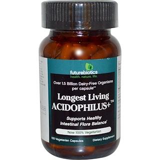 FutureBiotics, Longest Living Acidophilus+, 100 Veggie Caps