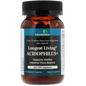 Фьючербайотикс, Longest Living Acidophilus+, 100 Vegetarian Capsules отзывы