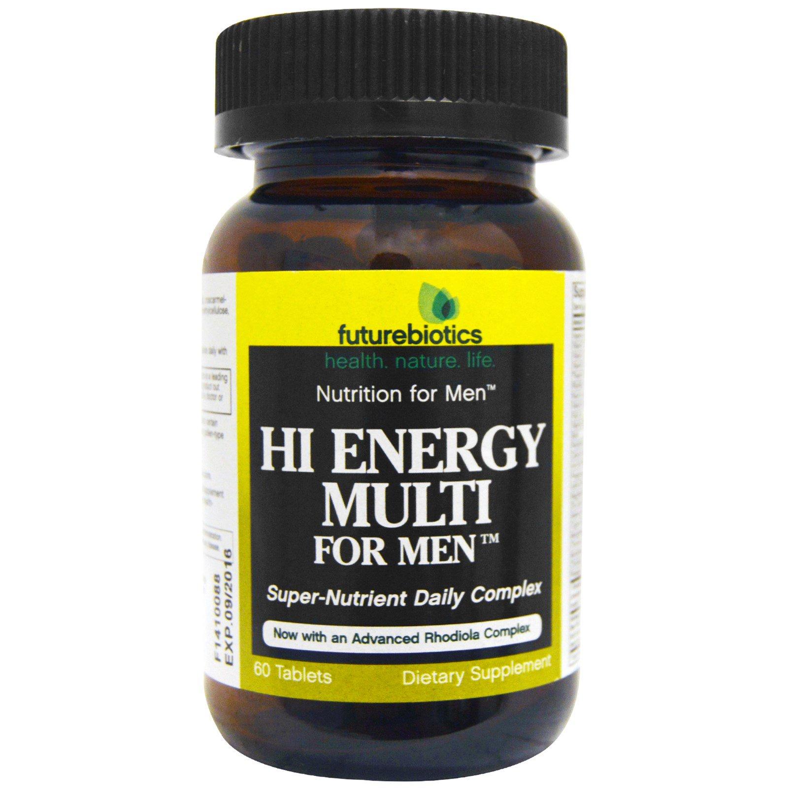 FutureBiotics, Максимум Энергии, мультивитамины для мужчин, 60 таблеток