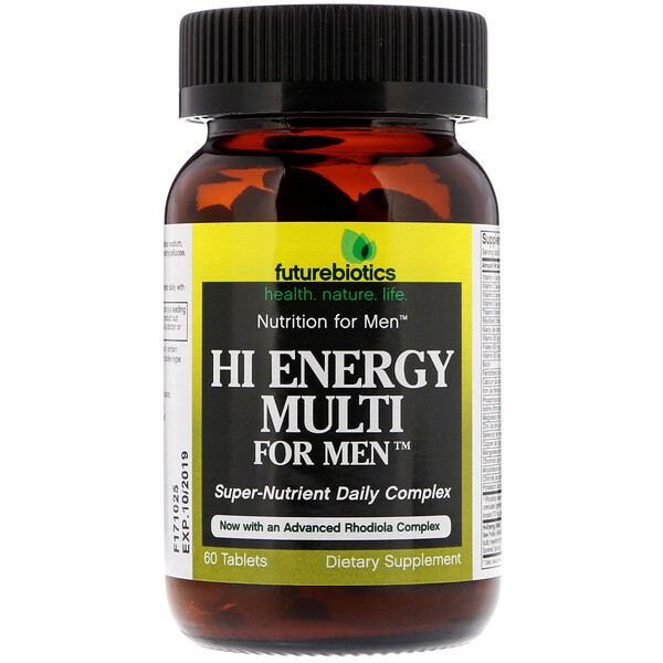 Hi Energy Multi, For Men, 60 Comprimidos