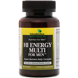 FutureBiotics, Hi Energy Multi, para Homens, 120 Comprimidos