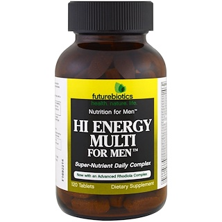 FutureBiotics, Hi Energy Multi, For Men, 120 Tablets