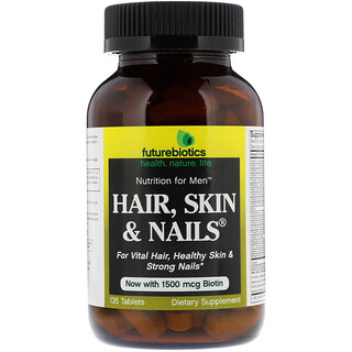FutureBiotics, Nutrição para Homens, Hair, Skin & Nails, 135 Comprimidos