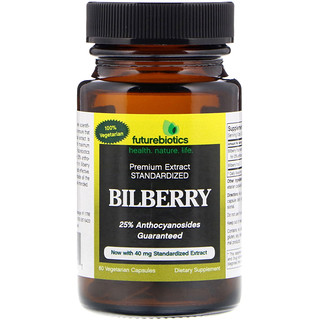 FutureBiotics, Bilberry, 60 Vegetarian Capsules