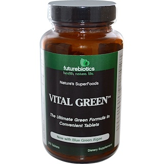 FutureBiotics, Vital Green, 375 Tablets