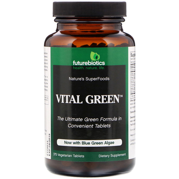FutureBiotics, Vital Green, 375 Vegetarian Tablets (Discontinued Item)