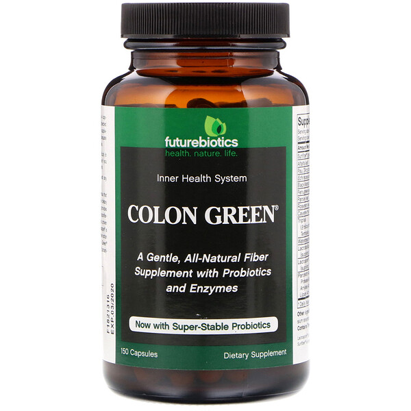 FutureBiotics, Colon Green, 150 Capsules