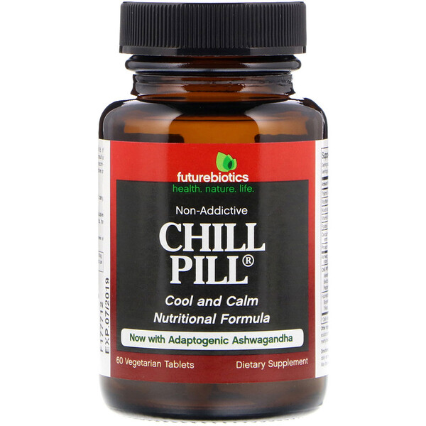 FutureBiotics, Chill Pill, 60 Vegetarian Tablets