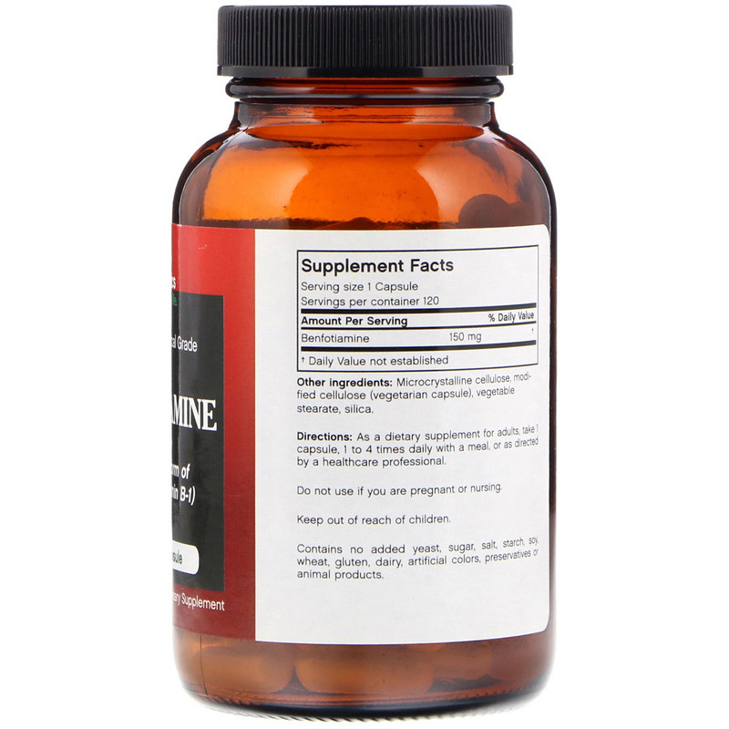 FutureBiotics, Benfotiamine, 150 mg, 120 Vegetarian Capsules - photo 1