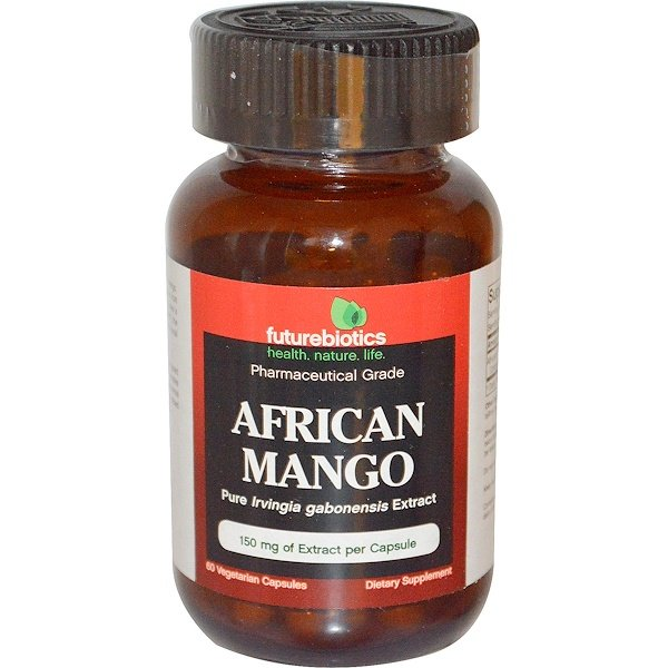 FutureBiotics, Mango africano, 150 mg, 60 cápsulas vegetarianas