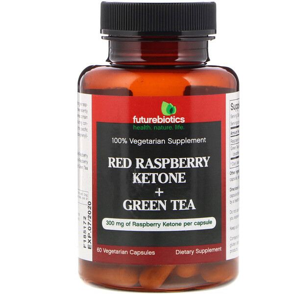 Red Raspberry Ketone + Green Tea, 60 Vegetarian Capsules