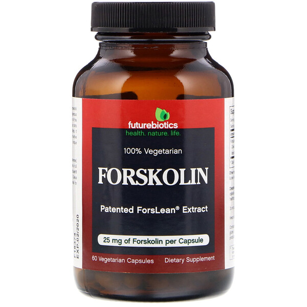 FutureBiotics, Forskolin, 25 mg, 60 cápsulas vegetales