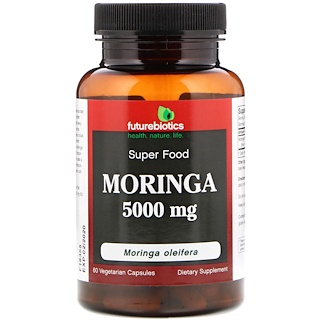 FutureBiotics, Moringa, 5000 mg, 60 Vegetarian Capsules
