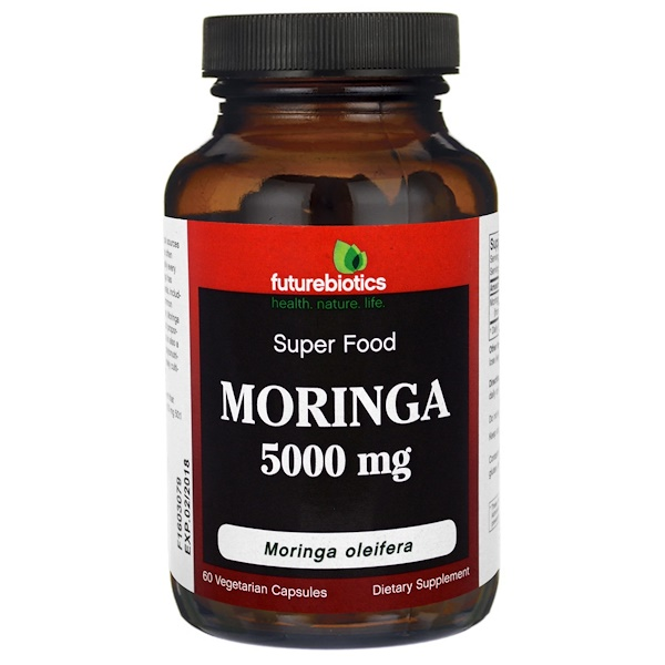 FutureBiotics, Moringa , 5000 mg, 60 Veggie Caps